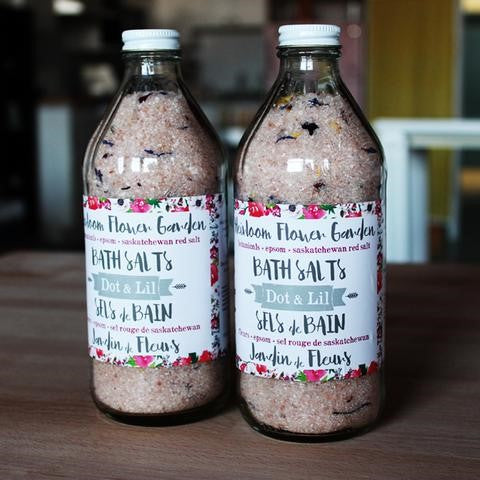 Dot & Lil Heirloom Flower Garden Bath Salt