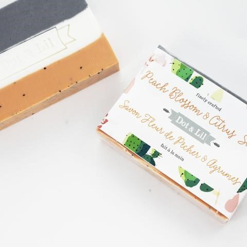 Dot & Lil Peach Blossom & Citrus Soap