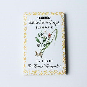 Dot & Lil White Tea & Ginger Flower Bath Milk Sachet