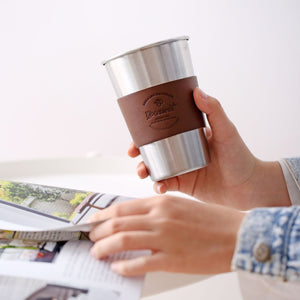 Stainless Steel Mug With Insulated Leather - Simple Households