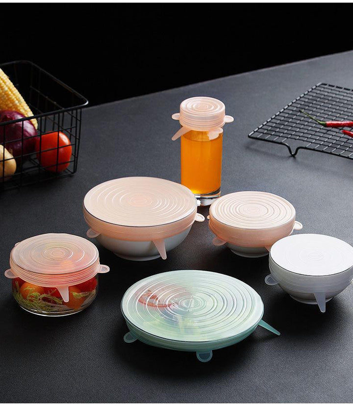 6 Piece Silicone Food Storage Lid - Simple Households