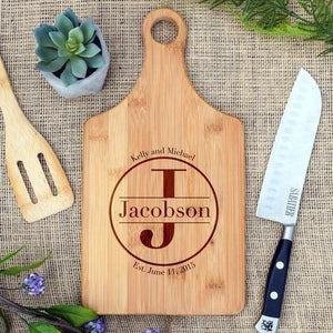 Circle Initial and Name Monogram Paddle Board - Simple Households
