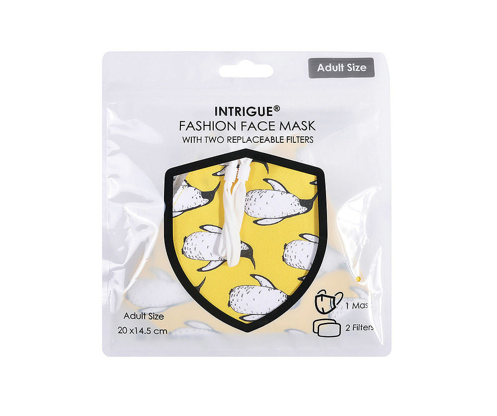 Yellow Penguin face mask - filter M/L