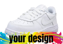 Load image into Gallery viewer, ADD YOUR DESIGN CUSTOM MADE NIKE AIRFORCE 1