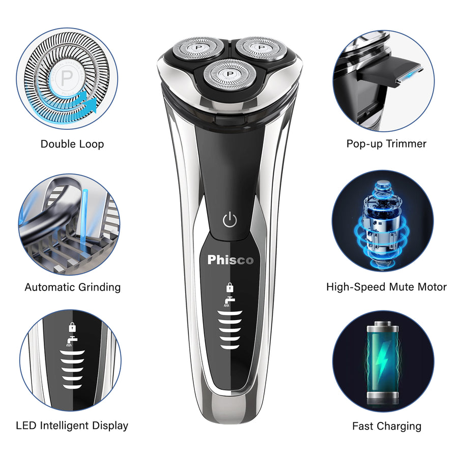 Phisco RMS8108 Men's Electric Rotary Shaver