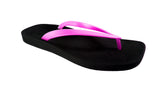 Archline Breeze Orthotic Flip Flops – Black/Pink