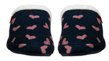 Archline Orthotic Slippers Slip-On – Navy with Pink Hearts