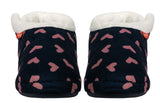 Archline Orthotic Slippers Closed – Navy with Pink Hearts