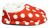 Archline Orthotic Slippers Closed – Red with White Polkadots