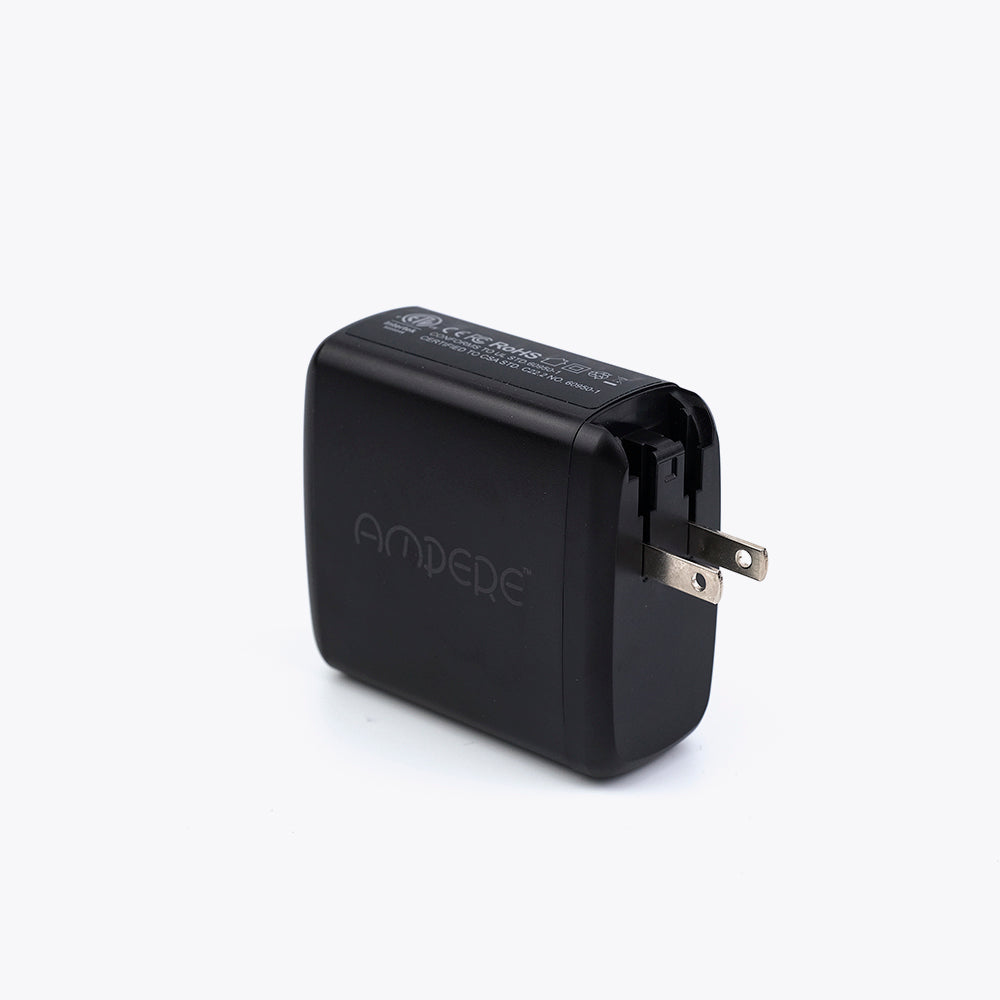 60W USB-C PD Adapter Compatible with Unravel, MacBook Pro - Compact, Foldable