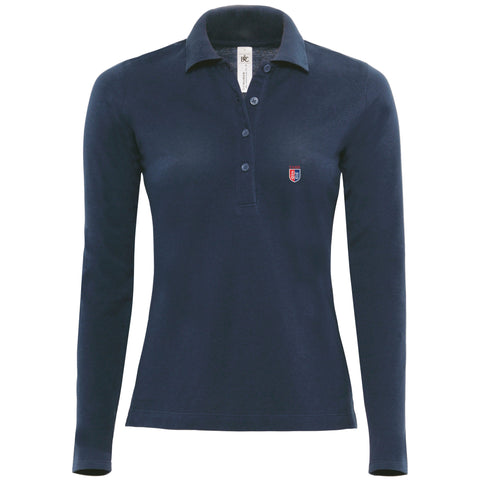 Girls Long Sleeve Polo Shirt