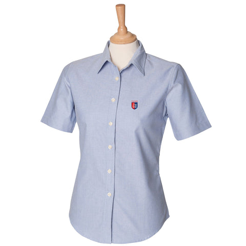 Girls Short Sleeve Oxford Shirt