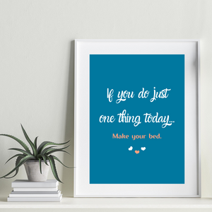 Make Your Bed Motivational Print