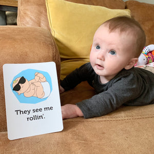 Ssh!..It Got Real! Baby Milestone Cards (That Tell It How It Really Is!)