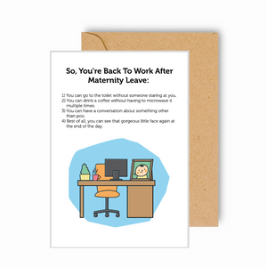 Back to Work After Maternity Leave Card