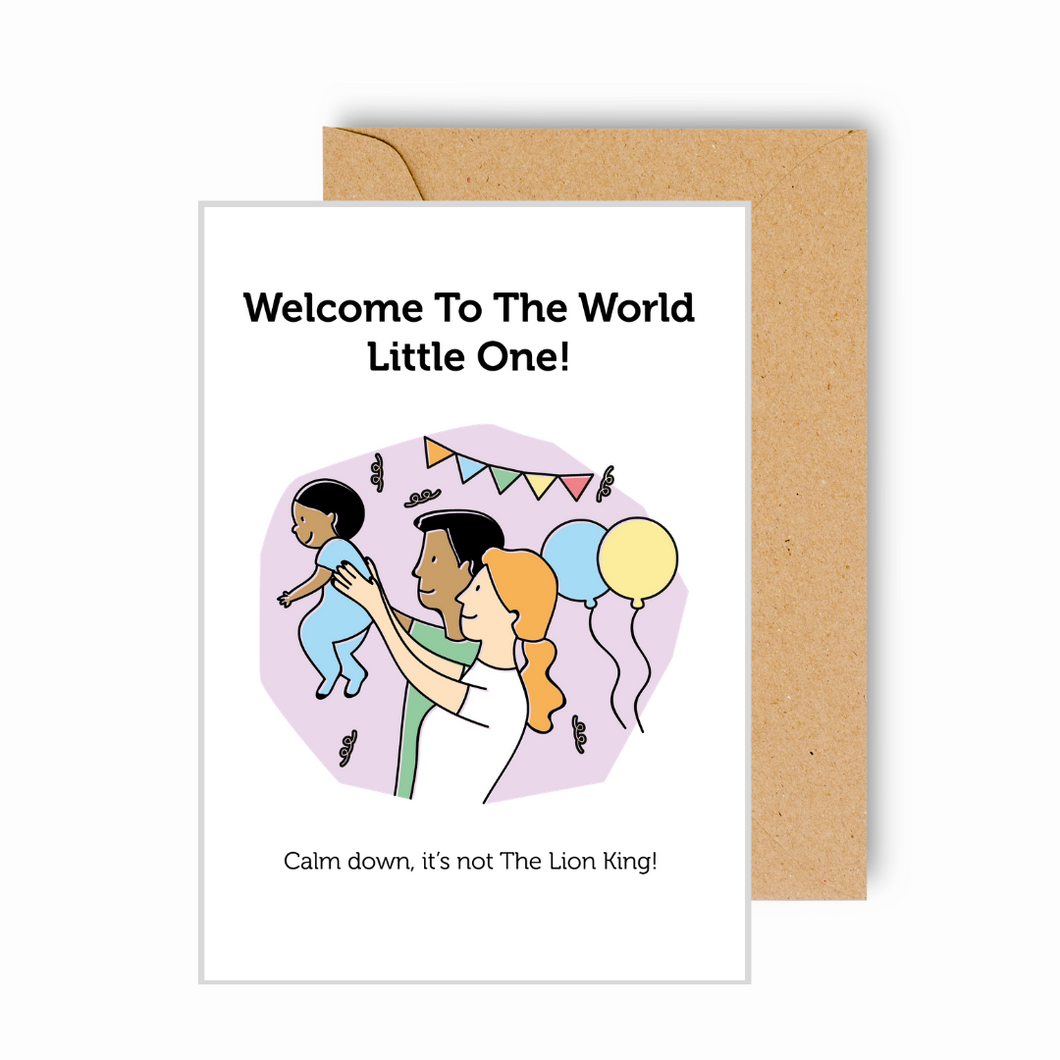 Welcome to the World Little One Funny Card