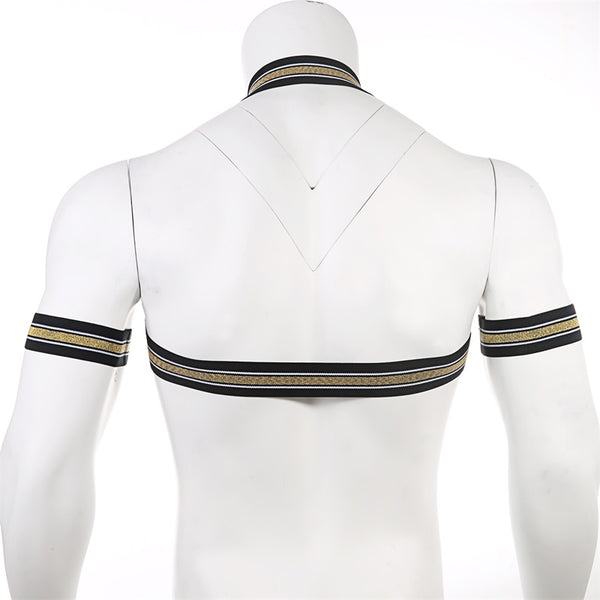 Gold Cross Chest Harness With Arm Bands