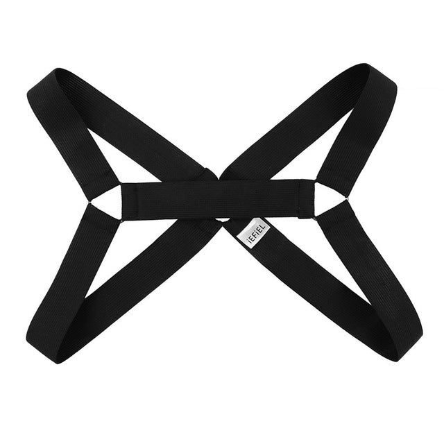 Cross-Chest Harness with Metal Rings