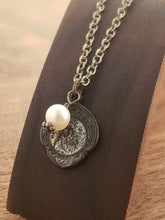 Load image into Gallery viewer, Antique Sterling Scapular with Pearl