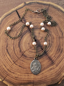 St. Peter Rosary Style Necklace