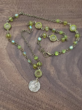 Load image into Gallery viewer, Scapular and Green Austrian Crystals