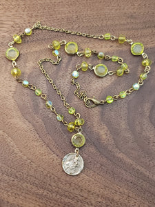 Scapular and Green Austrian Crystals