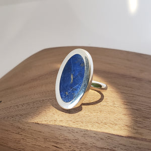 Statement Lapis and Sterling Ring