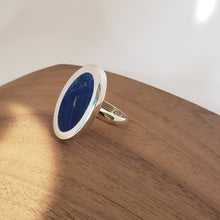 Load image into Gallery viewer, Statement Lapis and Sterling Ring