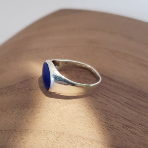 Lapis and Silver Ring