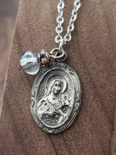 Load image into Gallery viewer, Antique Sterling Scapular