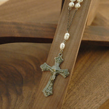 Load image into Gallery viewer, Freshwater Pearl Crucifix