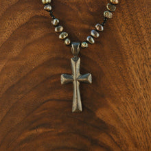 Load image into Gallery viewer, Tahitian Pearl and Silver Cross