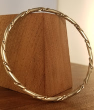 Load image into Gallery viewer, Wrapped Sterling Silver Bangle