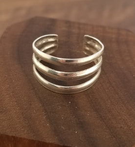 Minimalist Three Band Sterling Silver Ring