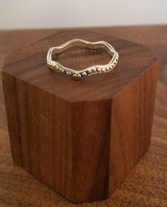 Sterling Silver Wave Thumb Ring