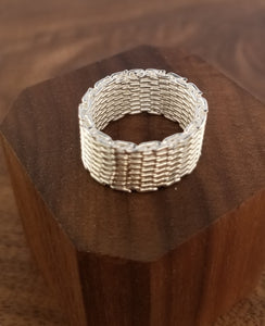 Woven Sterling Silver Ring