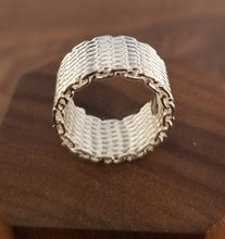 Load image into Gallery viewer, Woven Sterling Silver Ring