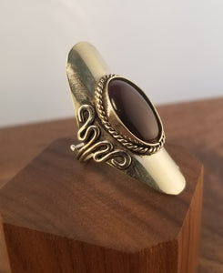 Dark Amethyst Sterling Silver Statement Ring