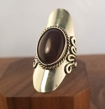 Load image into Gallery viewer, Dark Amethyst Sterling Silver Statement Ring