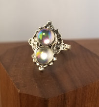 Load image into Gallery viewer, Iridescent Stardust Ring- Art Deco Setting