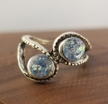 Load image into Gallery viewer, Iridescent Blue Stardust Ring - Tension Setting