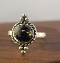 Load image into Gallery viewer, Stardust Supernova Ring - Black Large Stone