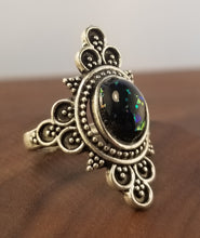 Load image into Gallery viewer, Black Stardust Statement Ring