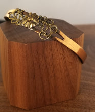 Load image into Gallery viewer, Brass and Copper Floral Cuff