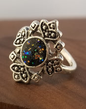 Load image into Gallery viewer, Black Stardust Ring - Art Deco Setting