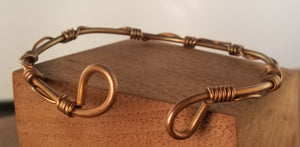 Wire Wrapped Copper Cuff
