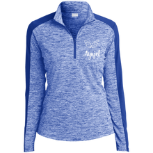 Load image into Gallery viewer, LST397 Ladies' Electric Heather Colorblock 1/4-Zip Pullover