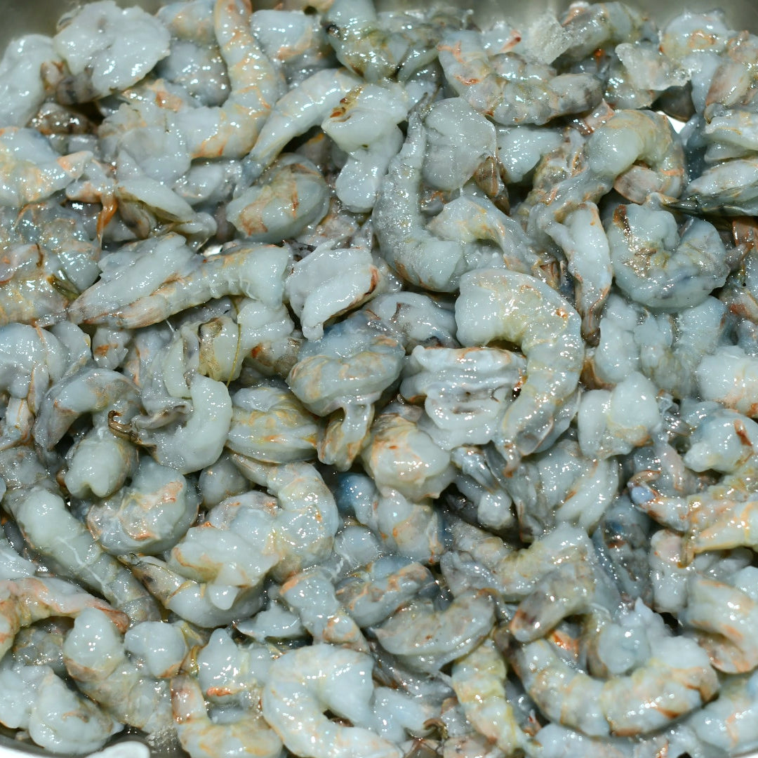 FRESH PEELED AND DEVEINED QUEEN PRAWNS (500g)