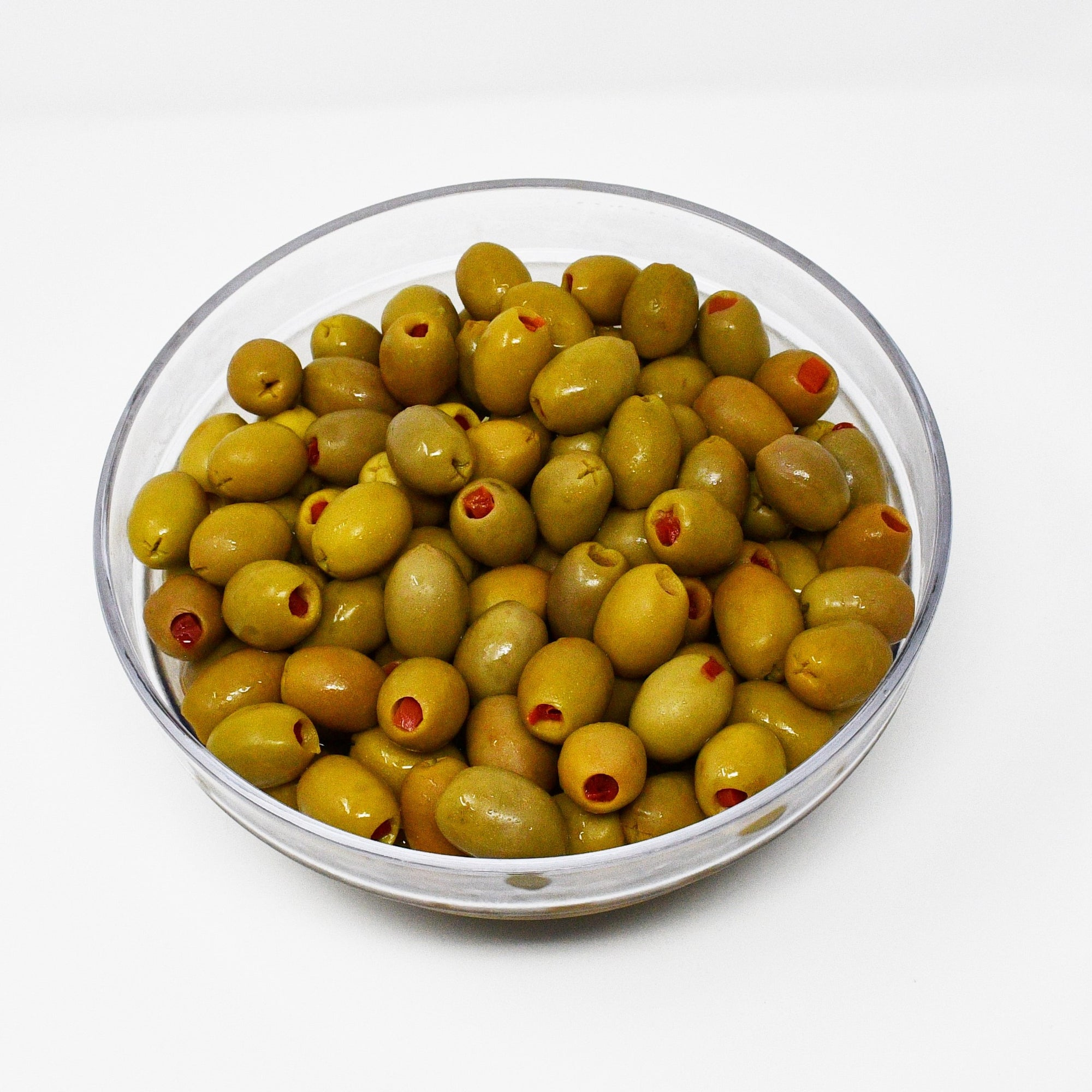 GREEN OLIVES WITH PIMIENTO (100g)