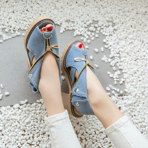 Women Fashion Zipper Peep Toe Sandals